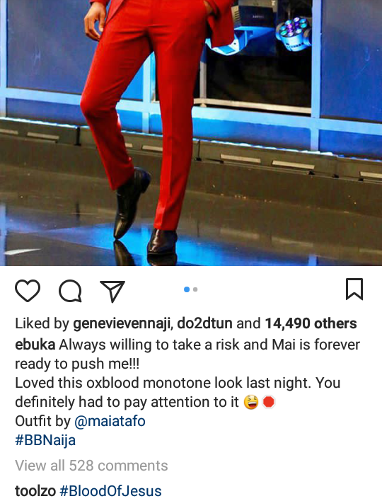 Ebuka Obi-Uchendu makes light of the drama surrounding his outfit at the last BBNaija eviction show