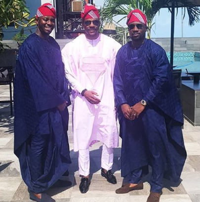 Ebuka slays in Pink \'Agbada\' (Photos)