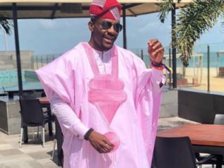 Ebuka slays in Pink 'Agbada' (Photos)