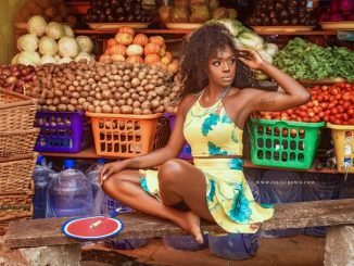 Beverly Osu stuns in creative market photo shoot
