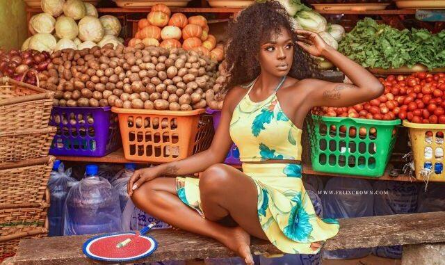 Beverly Osu stuns in creative market photo shoot