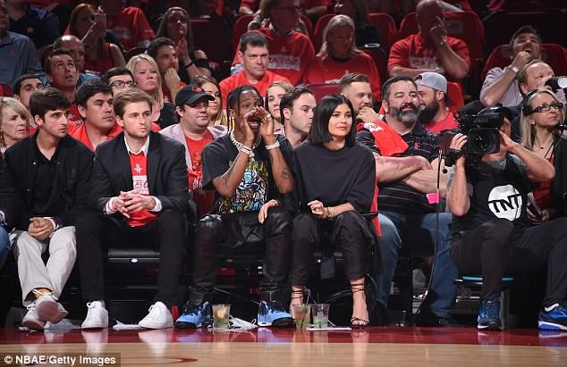 New parents Kylie Jenner and Travis Scott attend basketball game together (Photos)