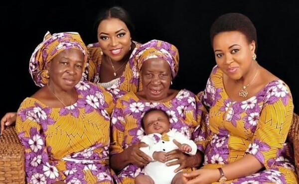 Check out beautiful Nigerian five generations photos of daughter, mother, grandmother, great-grandmother and great-great-granddaughter