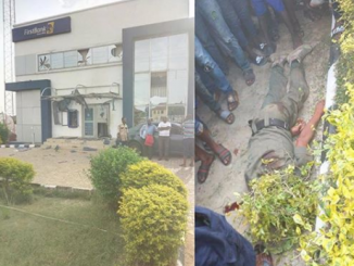 Days after Offa robbery, two policemen killed as robbers attack First Bank in Ekiti State (Graphic photos)