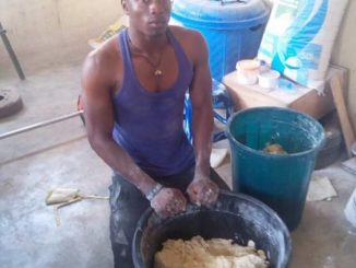 """Mr President, I'm not a lazy person. I have handwork"" - Male graduate who makes snacks tells Buhari"