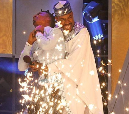 Throwback photo of Ebuka announcing Efe winner of #BBNaija 2017...who do you think will be announced winner on Sunday?