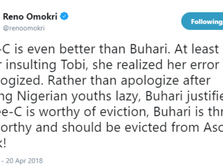 """Ceec is even better than Buhari"" Reno Omokiri says in new tweet"