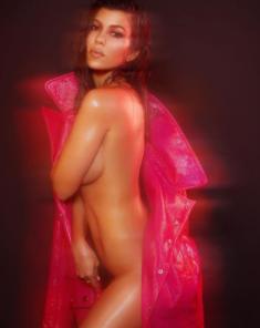 Kourtney Kardashian strips down on the cover of V magazine