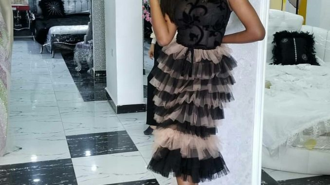 Idia Aisien looking elegant in Trish 'O' Couture at the Henessey VSOP's 200th Anniversary