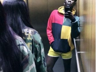 Mr. Eazi takes elevator selfie with his boo, Temi Otedola...