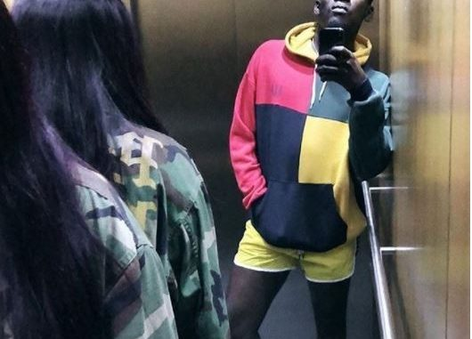 Mr. Eazi takes elevator selfie with his boo, Temi Otedola...