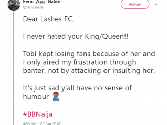 BBNaija: Tobi's elder brother addresses Ceec's fans on Twitter, says he feels only pity for CeeC