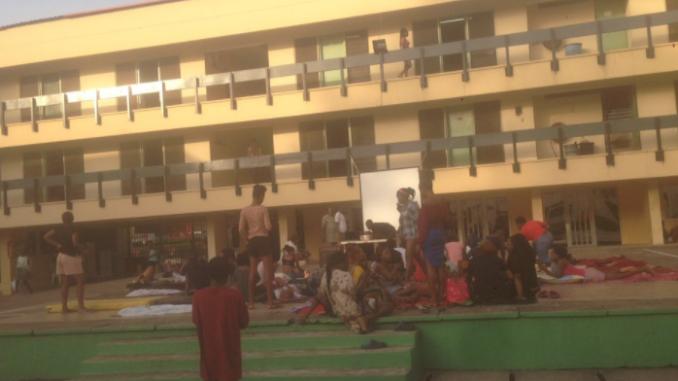 Photos: Unilag students set up projectors to watch Big Brother Naija finale