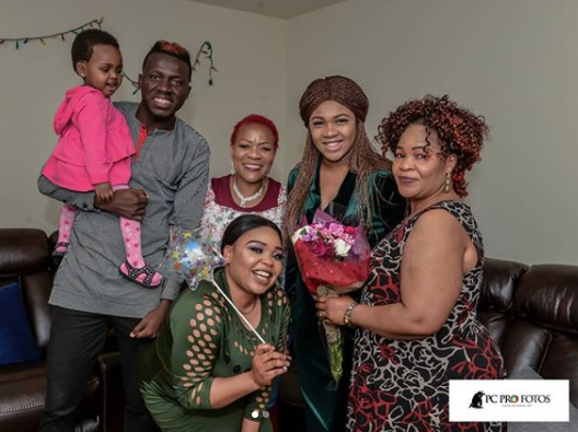 Photos from the naming ceremony of comedian, Akpororo\'s twins