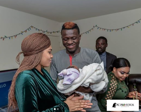 Photos from the naming ceremony of comedian, Akpororo's twins