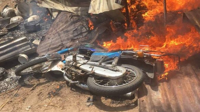 Photos: Troops destroy Boko Haram training camp, kill one insurgent