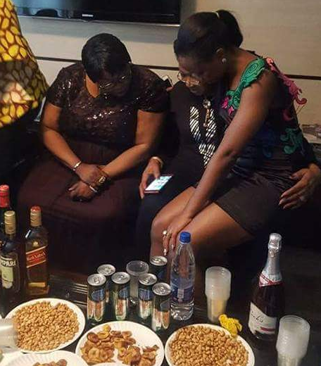 Photos: #BBNaija\'s Bambam sits on TeddyA's mom's laps at the surprise party his family threw for her today