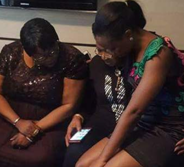 Photos: #BBNaija's Bambam sits on TeddyA's mom's laps at the surprise party his family threw for her today