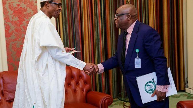 Photos: President Buhari in closed door meeting with CJN, Walter Onnoghen