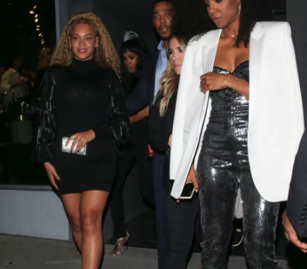 Beyonce in mini dress as she's seen out with her friends Kelly Rowland and Michelle Williams