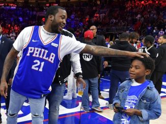 Meek Mill reunites with his son after his release from Prison.(Photos)