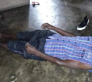 Graphic photos: Ugandan man commit suicide because his father reportedly refused to buy him a car
