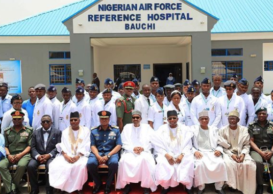 Here's President Buhari's full speech at the commissioning of Nigerian Air Force Hospital in Bauchi State