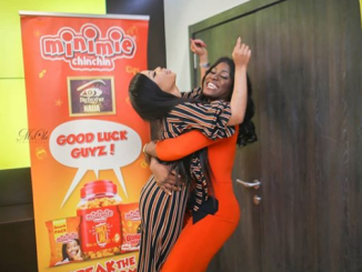 Photos: #BBNaija's Alex and Nina hug after their fallout yesterday