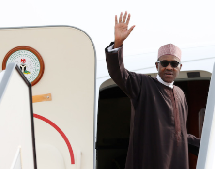 President Buhari is leaving Nigeria tomorrow to meet with President Trump