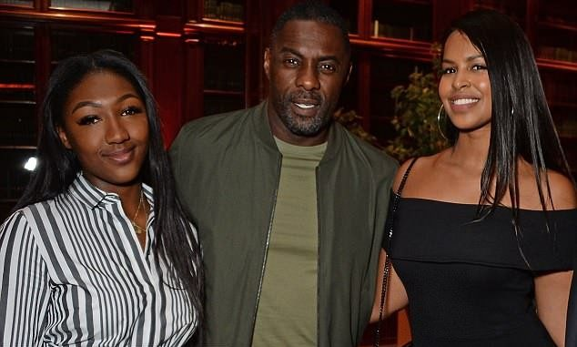 Idris Elba parties with his daughter Isan, and fiancée Sabrina at Formula E bash (Photos)