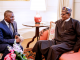President Buhari spotted with Aliko Dangote in Washington ahead of his meeting with President Trump