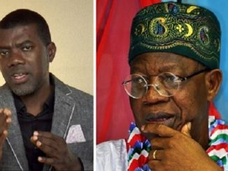 Reno Omokri reacts to Lai Mohammed's claim that Boko Haram strolled into Abuja at will during Jonathan's administration