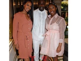 Beautiful family photo of Idris Elba, his fiancee and daughter
