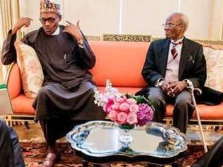 Photo of President Buhari and Nigeria's ambassador to the US, Sylvanus Nsofor