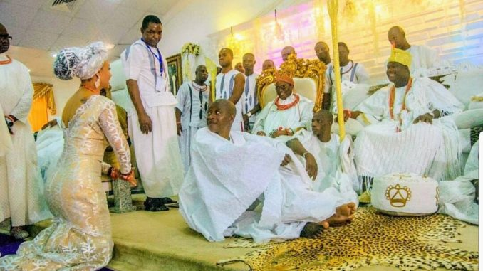 Modupe Ozolua pays homage to Oba of Benin and Ooni of Ife (photos)