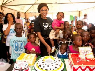 Photos: Nollywood's Omoni Oboli Spends 40th Birthday With Children In Makoko, Launches Kitchen To Feed 500 Kids Weekly