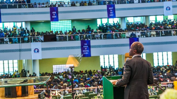 Osinbajo urges tolerance as Deeper Life opens new auditorum