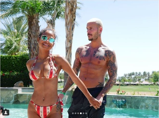 Loved-up photos of Christina Milian and her French beau Matt Pokora