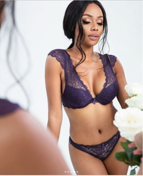 Bonang Matheba stuns in ravishing lingerie shoot (Photos)