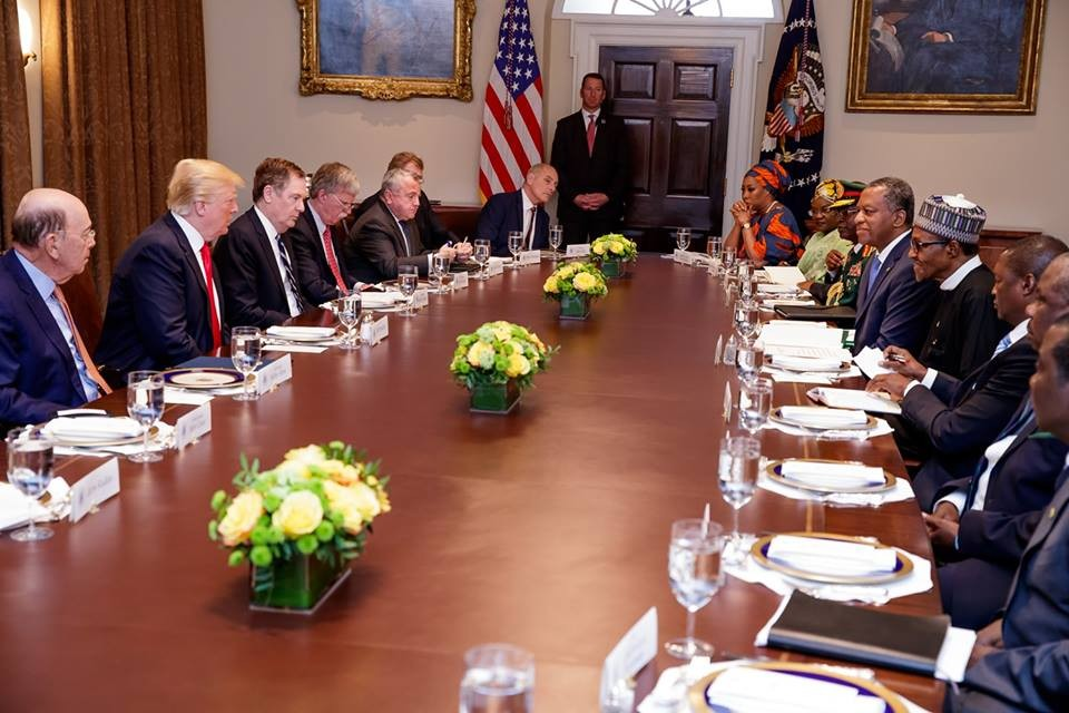 Photos from President Buhari\'s meeting with US President Donald Trump