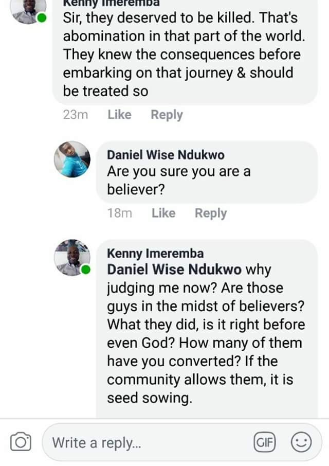 \'No gay deserves to die\' - Pastor Awuzie replies man who said the gay men caught deserve to be killed