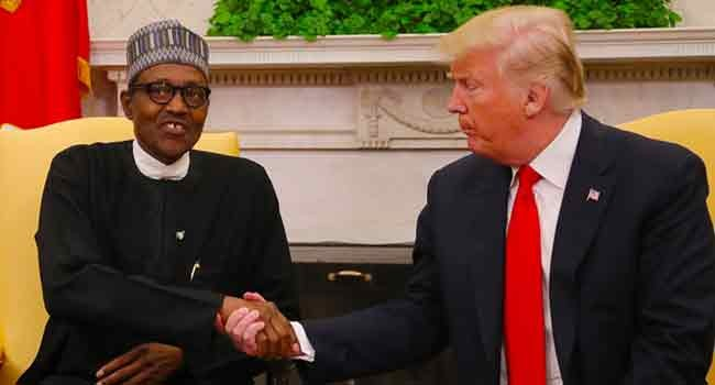 Buhari to Trump ''Herdsmen crisis is tied to Gadaffi and the Libyan crisis''