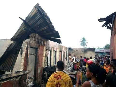 35-year-old lady killed in fire outbreak in Delta State (photos)