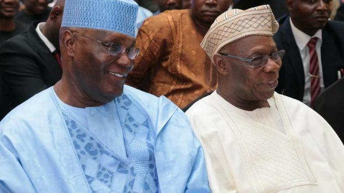 Photos: Obasanjo, Atiku all smiles at a function in Lagos