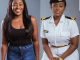 Off and at work photos of pretty female Naval officer