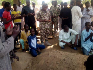Photos: IDP who was shot dead by angry soldier in Maiduguri, has been laid to rest