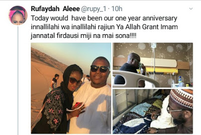 Second wife of Gov. Tambuwal\'s spokesman, Imam Imam mourns on what could have been their first wedding anniversary