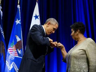 Barack Obama and Aretha Franklin