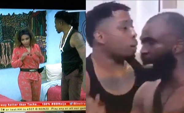 BBNaija: Mercy and Gedoni fight after Mercy smashed a phone Gedoni used in recording a drunk Diane (videos)