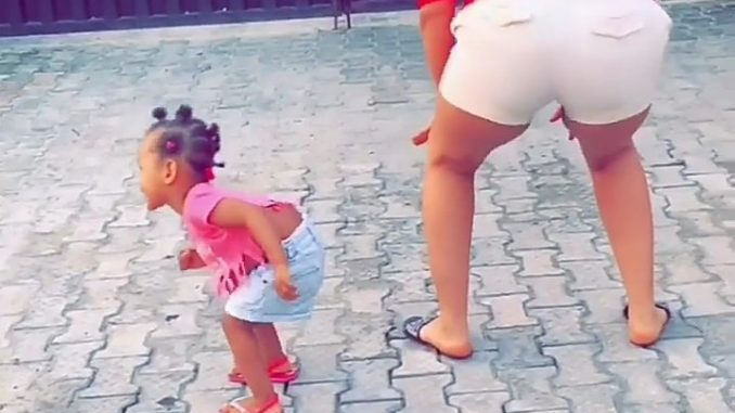 BBNaija's Gifty teaches 1-year-old daughter to twerk (video)